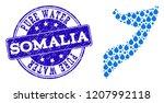 map of somalia vector mosaic... | Shutterstock .eps vector #1207992118