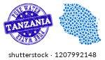 map of tanzania vector mosaic... | Shutterstock .eps vector #1207992148