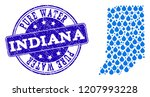 map of indiana state vector... | Shutterstock .eps vector #1207993228