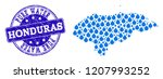 map of honduras vector mosaic... | Shutterstock .eps vector #1207993252