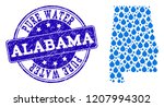 map of alabama state vector... | Shutterstock .eps vector #1207994302