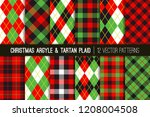 Christmas Argyle And Tartan...