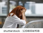 depressed stressed young asian... | Shutterstock . vector #1208006908