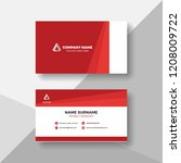 red and white business card... | Shutterstock .eps vector #1208009722
