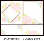 invitation greeting card with... | Shutterstock .eps vector #1208011495