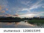 irish twilight sunset over... | Shutterstock . vector #1208015395