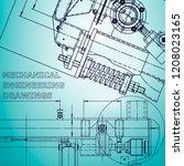 blueprint  scheme  plan  sketch.... | Shutterstock .eps vector #1208023165