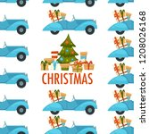 merry christmas winter holiday... | Shutterstock .eps vector #1208026168