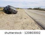 Abandoned Car On Roadside