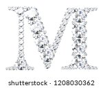 diamond letters with gemstones  ... | Shutterstock . vector #1208030362