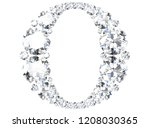 diamond letters with gemstones  ... | Shutterstock . vector #1208030365