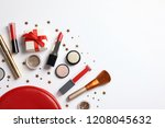 flat lay composition with... | Shutterstock . vector #1208045632