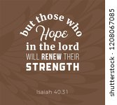 biblical phrase from isaiah 40... | Shutterstock .eps vector #1208067085