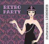 Retro Party Invitation Card...