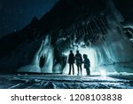 surreal landscape with people... | Shutterstock . vector #1208103838