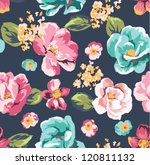 seamless tropical vintage... | Shutterstock .eps vector #120811132