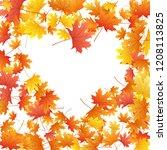 maple leaves vector background  ... | Shutterstock .eps vector #1208113825