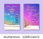 trendy cover template. winter... | Shutterstock .eps vector #1208116612