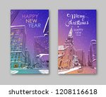 trendy cover template. winter... | Shutterstock .eps vector #1208116618