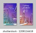 trendy cover template. winter... | Shutterstock .eps vector #1208116618