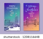 trendy cover template. winter... | Shutterstock .eps vector #1208116648