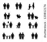 family pictogram   a set of... | Shutterstock .eps vector #120812176