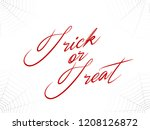 trick or treat typography text. ... | Shutterstock .eps vector #1208126872