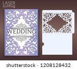 die laser cut wedding card... | Shutterstock .eps vector #1208128432