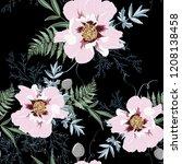 elegant seamless peony pattern... | Shutterstock .eps vector #1208138458