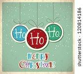 retro christmas background.... | Shutterstock .eps vector #120814186