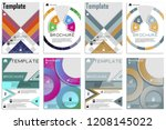 flyer design. business brochure ... | Shutterstock .eps vector #1208145022