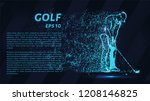 golf of particles. silhouette... | Shutterstock .eps vector #1208146825