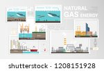 natural gas energy  how to... | Shutterstock .eps vector #1208151928