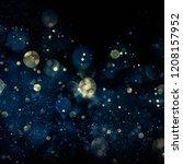 christmas light background. ... | Shutterstock . vector #1208157952