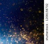 christmas light background. ... | Shutterstock . vector #1208158732