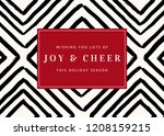 christmas design with geometric ... | Shutterstock .eps vector #1208159215