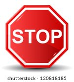 vector illustration of stop sign | Shutterstock .eps vector #120818185