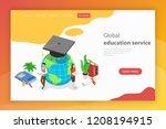 global education service....   Shutterstock .eps vector #1208194915