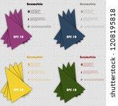 set of minimal geometric covers ... | Shutterstock .eps vector #1208195818