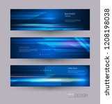 abstract banners set with image ... | Shutterstock .eps vector #1208198038