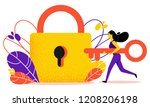 vector illustration of wrong... | Shutterstock .eps vector #1208206198