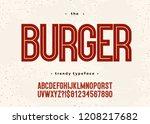 vector bold burger font modern... | Shutterstock .eps vector #1208217682