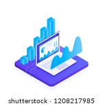 concept business strategy.... | Shutterstock .eps vector #1208217985