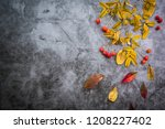 a autumn background composed of ... | Shutterstock . vector #1208227402