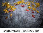 a autumn background composed of ... | Shutterstock . vector #1208227405