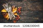 Autumn background from fallen...