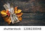 autumn background from fallen... | Shutterstock . vector #1208230048