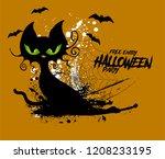 cat vector illustration for... | Shutterstock .eps vector #1208233195