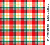 checkered seamless pattern at... | Shutterstock .eps vector #1208233612