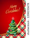 template of elegant christmas... | Shutterstock .eps vector #1208233678